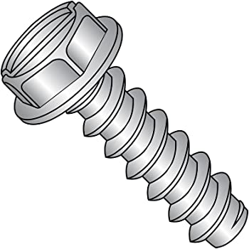 #6-20 Thread Size 3//8 Length 3//8 Length 18-8 Stainless Steel Sheet Metal Screw Hex Washer Head Type AB Slotted Drive Small Parts 0606ABSW188 Plain Finish Pack of 100 Pack of 100