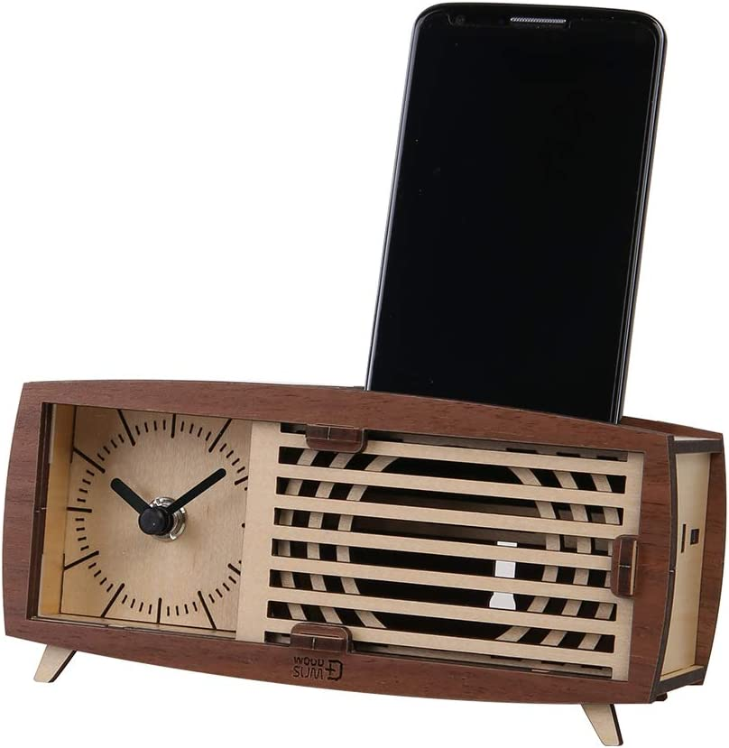 WOODSUM Retro Radio Shaped Clock Outlet sale feature 3D for Adult Puzzle Cheap mail order specialty store Wooden