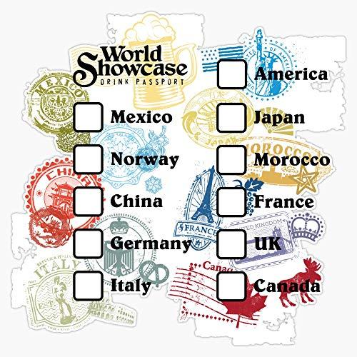 Drink Around the World - EPCOT Passport Decal Vinyl Bumper Sticker 5'