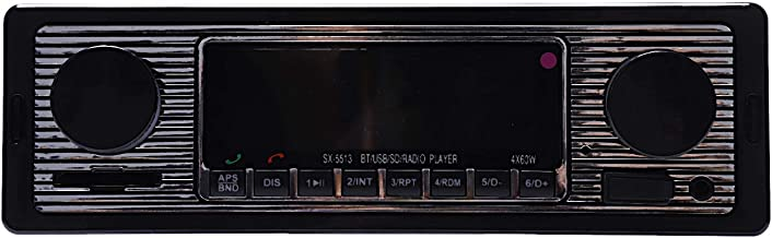 TOOGOO Bluetooth Vintage Car Radio Mp3 Player Stereo USB Aux Classic Car Stereo Audio Vehicle Integrated Car Radio Mp3 Player