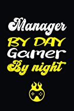 Manager by day gamer by night: Manager Gift Journal Blank Lined Notebook & Journal for men and women