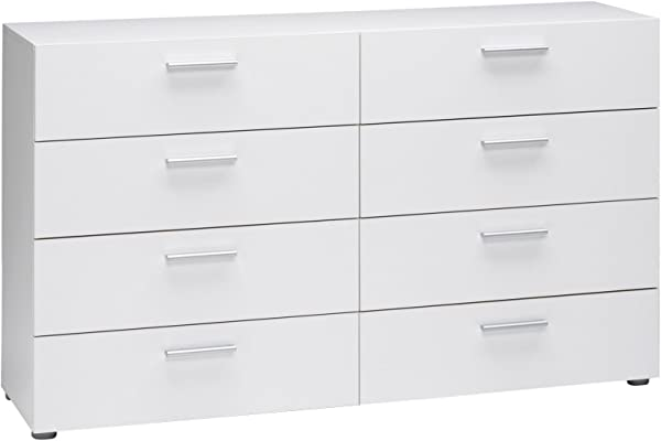 Tvilum Austin 8 Drawer Dresser White