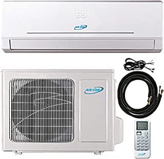 18000 Btu 23.3 SEER Ductless Mini Split DC Inverter Air Conditioner Heat Pump System 208-230 Volt with 15ft Kit (18000 Btu)