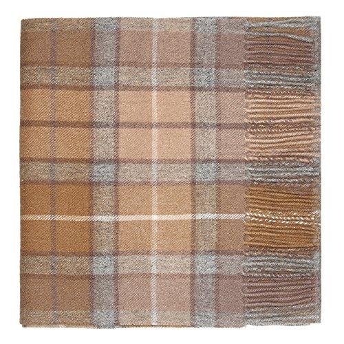 Oxfords Cashmere Reine Schurwolle Luxury Tartan Schal (Natural Buchanan)