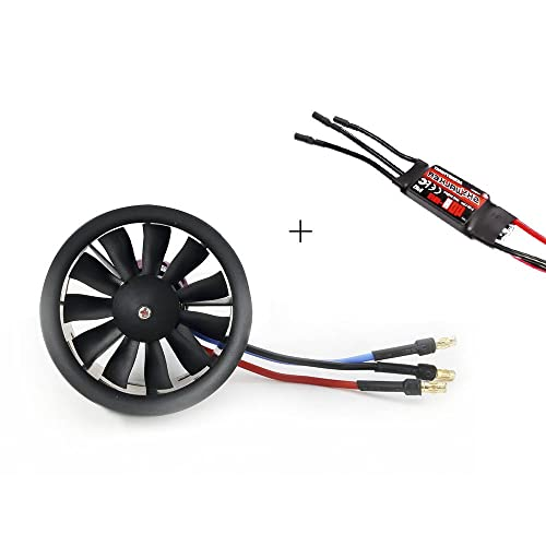 Powerfun EDF 50mm 11 Blades Ducted Fan with RC Brushless Motor 4900KV with ESC 40A(