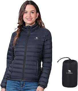 Womens Down Jacket Lightweight Packable Puffer Down Coats Short Parka Jackets Winter Coats with 4 Pockets