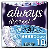 Always Discreet Inkontinenz-Einlagen+ Long Bei Blasenschwäche, 5er Pack (5 x 10 Stück)