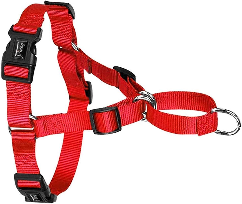 No Pull Dog Harness Nylon Easy Walking Dog Harnesses Training Vest for Small Medium Large Dog Pitbull Terrier,Red,XL