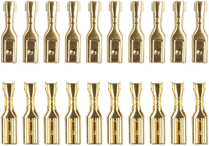 Connect Plug Connector 100pcs Max 76% OFF 2.8mm Gold Brass Free Shipping Cheap Bargain Gift Speaker Elect Car