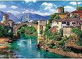 Juegos de rompecabezas de 1000 piezas, rompecabezas de madera del Puente Viejo en Mostar, divertidos juegos educativos para adultos y niños, y una exquisita decoración del hogar.