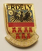 Aveshop Erdely Hungary Coat of Arms Hungarian Metal Lapel Pin Tie Tack Soccer Football - Accessorize with Men's Novelty Buttons and Pins