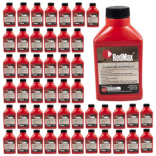 RedMax 580357203 OEM MaxLife 2-Cycle Oil 6.4oz 50:1 2.5 Gallon Mix, Case of 48