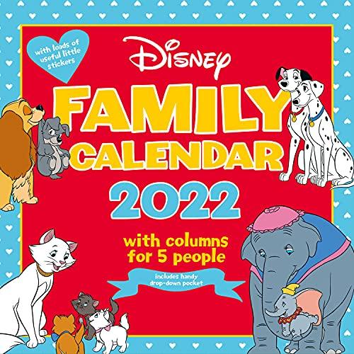Disney Classics Family Organiser 2022 Calendar Gift Present with Free Organising Stickers