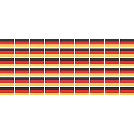 Mini Aufkleber Set Pack Glatt 20x12mm Selbstklebender Sticker Fahne Germany Deutschland Flagge Banner Standarte Fürs Auto Büro Zu Hause Und Die Schule 54 Stück Bürobedarf Schreibwaren