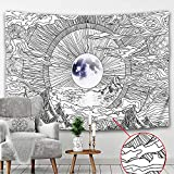 Mandala tapiz colgante de pared hippie estilo bohemio sala de estar dormitorio decoración del hogar fondo de pared tela colgante A6 180x200cm