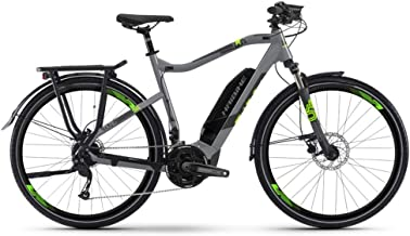Haibike Sduro Trekking 4.0 Pedelec Bicicleta eléctrica, gris/negro/verde, 2019: tamaño: M