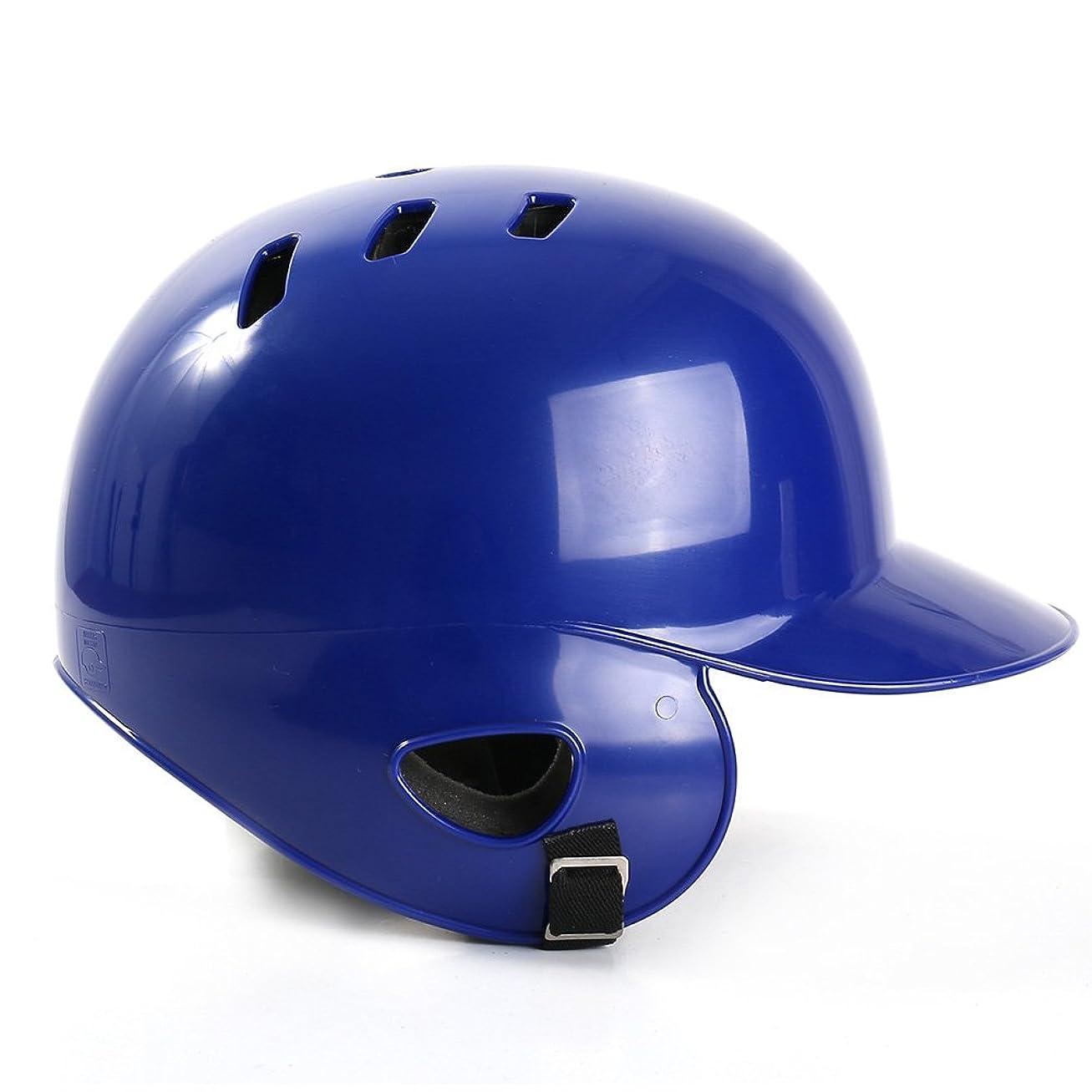 並外れて競合他社選手寂しい野球ヘルメット耐衝撃性ソフトボールバッティング安全バンプキャッププロテクターフェイスマスク通気性スポーツ保護(ブルー)