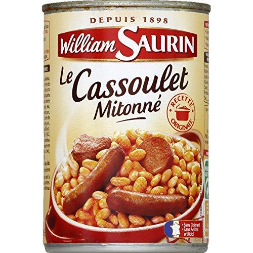 William Saurin - Le cassoulet mitonné - La boîte de 420g - (pour la quantité Plus Que 1 Nous Vous remboursons Le Port supplémentaire)
