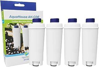 AquaHouse - Lot de 4 filtres de rechange AH-CDE compatibles avec cartouche de filtre à eau Delonghi DLSC002, SER3017, 5513...