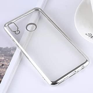 携帯電話ソフトケース Huawei P Smart(2019)/ Honor 10 Lite用極薄電気めっきソフトTPU保護バックカバーケース ソフトケース (色 : Silver)