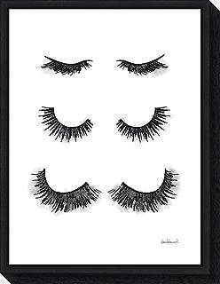 Framed Canvas Wall Art Print Makeup Lashes by Amanda Greenwood 18.00 x 23.50