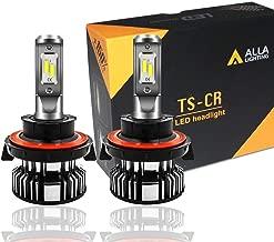 Alla Lighting 10000lm LED H13 Headlight Bulbs Extremely Super Bright TS-CR 9008 H13 LED Headlight Bulbs Conversion Kits Bulb, 6000K Xenon White