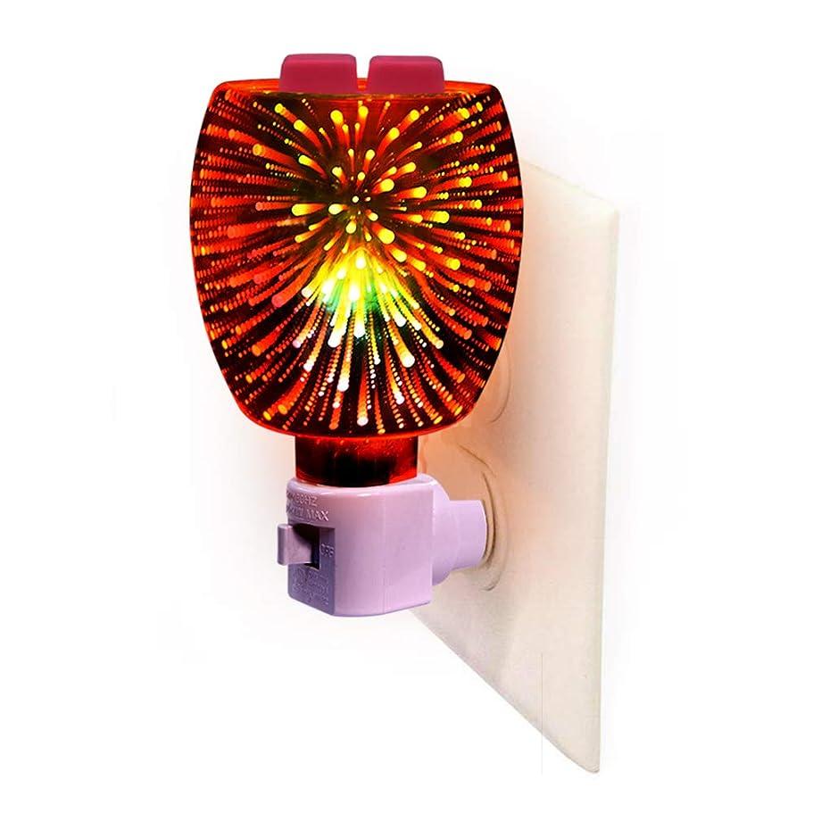 乱闘部分的お誕生日3D Glass Pluggable Fragrance Warmer- Decorative Plug-in for Warming Scented Candle Wax Melts and Tarts or Essential Oils 141[並行輸入]