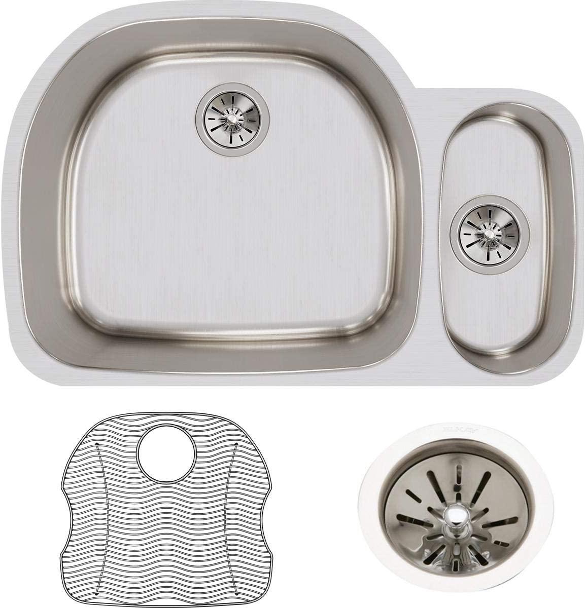 Elkay ELUH322110RDBG Our shop OFFers the best service Lustertone Classic Offset 30 Bowl New Free Shipping Double 70
