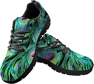 f01abba6c Shinelly - Zapatillas Deportivas para Hombre, diseño de Plumas de Pavo  Real, Transpirables,