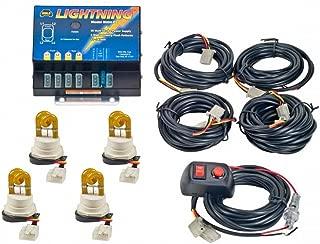 Wolo (8004-3AAAA) Lightning 80 Watt Power Supply Four Bulb Emergency Warning Strobe Kit - 4 Amber Bulbs