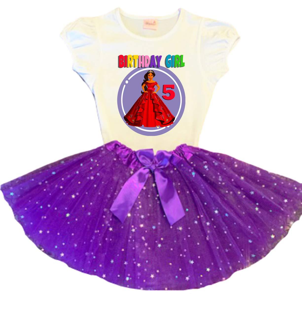 Elena of Avalor Houston Mall Birthday Tutu 5th Max 58% OFF Party Purple Tu Dress