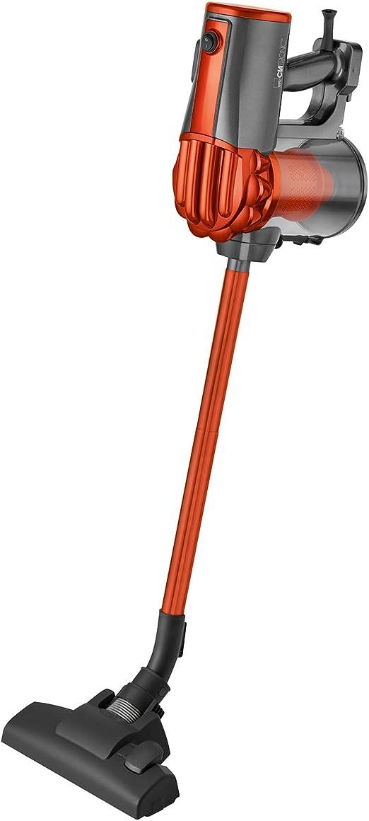 Clatronic BS-1306 Aspirador escoba ciclónico, sin bolsa, uso vertical y de mano, 600 W, Acero Inoxidable, Naranja: Amazon.es: Hogar