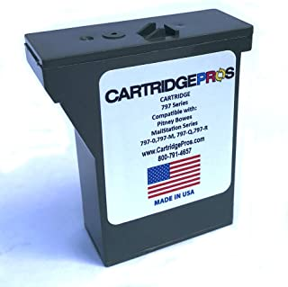 Pitney Bowes 797-M Red Postage Meter Compatible Cartridge for MailStation 1 & 2. Made in USA!