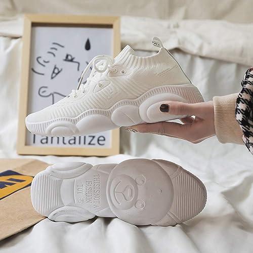 Turnchaussures Joker Blanc Chaussures étudiants volent Chaussures de Sport tissées Chaussures de Course pour Femmes,blanc,36