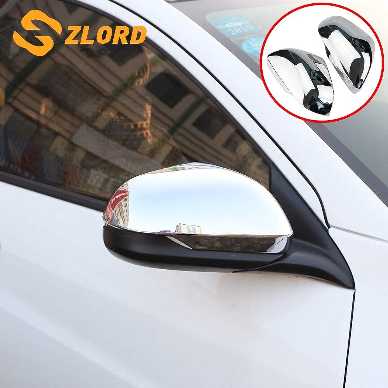 Car Rearview Mirror Cover for Honda HRV HRV Vezel 20142017 ABS Chrome Car Rear View Mirror Predection Strips Trim Sticker