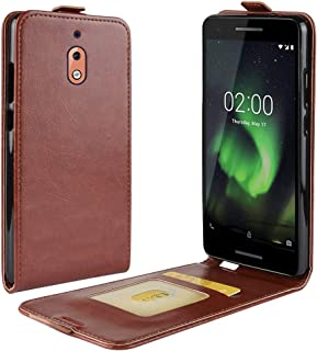 NOKIA 2.1 Case Cover,Premium PU Leather Flip Folio Wallet Case with Card Slot,Stand Holder and Magnetic Closure [TPU Shockproof Interior Case] Compatible with NOKIA 2.1