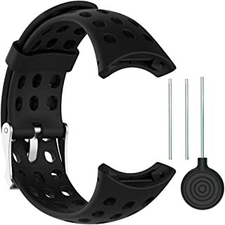 QGHXO Replacement Soft Wristband with Metal Buckle for Suunto M1/Suunto M2/Suunto M4/Suunto M5/M-Series Smart Watch