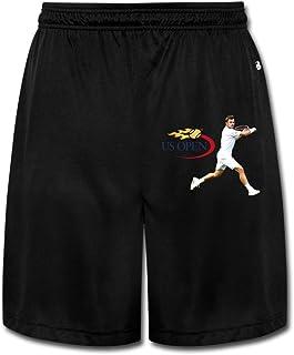 KOKOROITAI Men's Us Open Tennis 2016 Logo Stanislas Wawrinka Performance Shorts Sweatpants