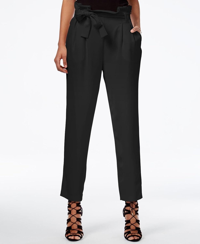 Rachel Roy Womens Paper Bag Casual Trousers