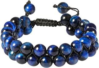 TUMBEELLUWA Beaded Bracelet Stone 8mm Double Layers Adjustable Meditation Power Healing Crystal Bracelets