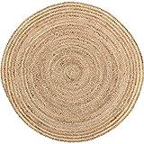 Coastal Farmhouse Flooring - Harlow Tan Round Jute Rug, 3' Diameter