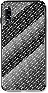جراب EUDTH لهاتف Samsung Galaxy A50/A30S/A50S، جراب صلب فاخر من خليط ألياف الكربون من الزجاج المقوى للحماية من الصدمات لها...