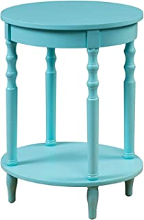 Convenience Concepts Classic Accents Brandi Oval End Table, Sea Foam