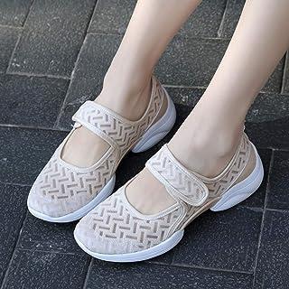 B/H Chaussures diabète Chaussons,Chaussures de mère en Dentelle Respirante d'été, Chaussures de Grande Taille pour Femmes ...