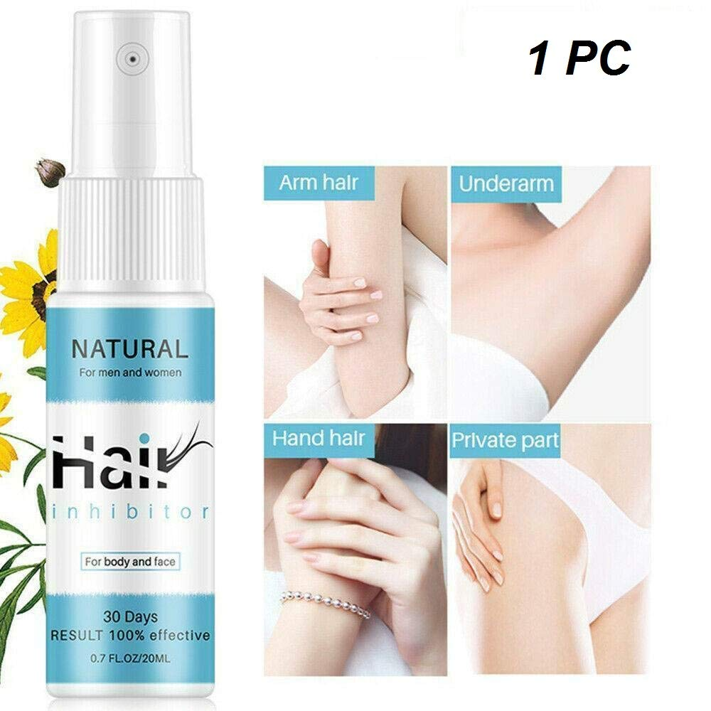 loudi Spray de depilación Permanente Natural, inhibidor del Crecimiento del Vello, removedor de Vello no irritante indoloro para Brazo/axila/piernas/ingrediente Suave (1PC,20ML): Amazon.es: Hogar