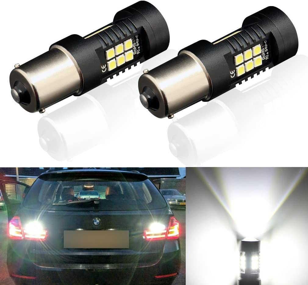 TOAUTO 2 x New arrival 1156 LED Bulbs High order White 3030 Super Ch Bright 1200 Lumens