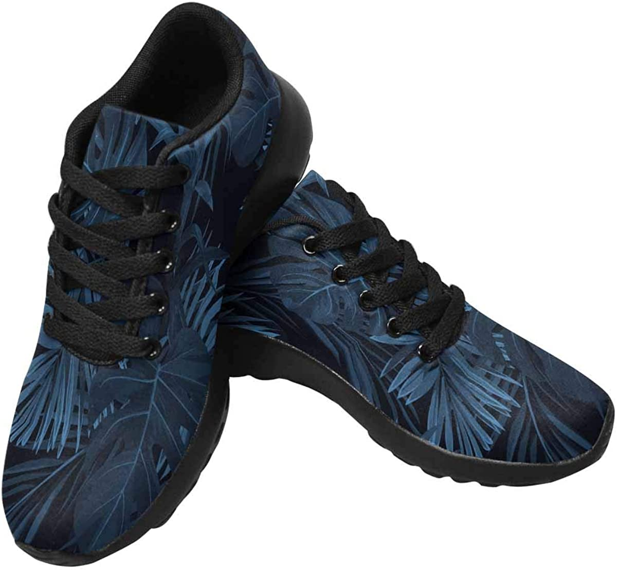 InterestPrint Women's Running Shoes - Casual Breathable Athletic Tennis Sneakers Hawaiian Plants and Flowers