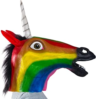 Tigerdoe Unicorn Mask - Animal Mask - Unicorn Costume Adult - Rainbow Unicorn Mask - Costume Heads