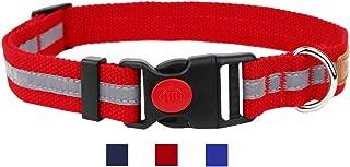 Egoola Night Reflective Dog Collar Adjustable Pet Collars with Small Medium Large