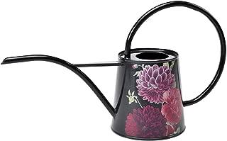 Burgon & Ball Indoor Watering Can in 34 Floz Lightweight in British Bloom Design | Long Reach Watering Can Peonies & Dahlias